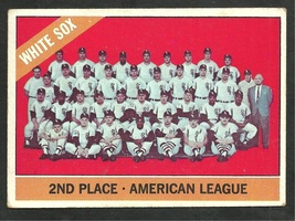 Chicago White Sox Team Card 1966 Topps Baseball Card 426 vg - $3.50