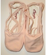 Capezio 2039 Pro Canvas Shoes Ballet Pink BPK Split Sole Size 5.5M 5.5 M - $27.87