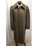 JOS A BANK Trench Coat with Detachable Leather Collar - $69.00
