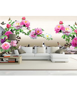 3D Classical Peony Flower 22 Wall Paper Wall Print Decal Wall Deco Indoo... - $28.54+