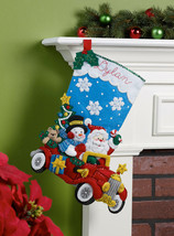 Bucilla - 'Holiday Drive'  Christmas Felt Stocking Stitchery Kit, 86451 - $24.99