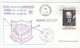 USSR SATELLITE LAUNCHES COSMOS-302 & 303 COLORADO SPRINGS 1969 DUAL CANC... - $2.98