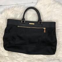 Michael Kors Colgate nylon leather tote bag black east west laptop Retai... - $72.38
