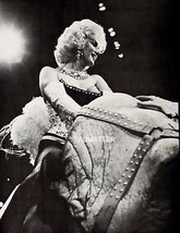 MARILYN MONROE VINTAGE PIN-UP PRINT PHOTO RIDING CIRCUS ELEPHANT GREAT P... - $7.84