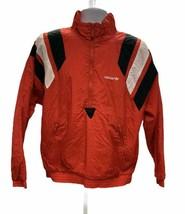 Vintage Adidas Half Zip Pullover Nylon Windbreaker Red Black Size Medium - $44.15