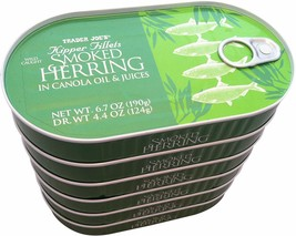Trader Joe%27s Kipper Fillets Smoked Herring in Canola Oil and Juices 6 ... - $69.54