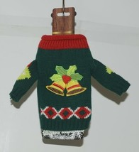 DMM Uncle Bobs XSweat Ugly Knitted Bottle Sweater Green with Bells and Holly image 1