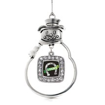 Inspired Silver Lucky Horse Shoe Classic Snowman Holiday Christmas Tree Ornament - $14.69