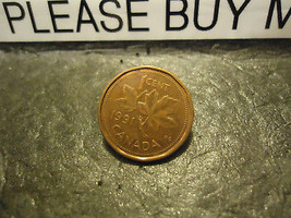 1991 CANADIAN CENT COIN    ****     >> COMBINED SHIPPING  - $1.73