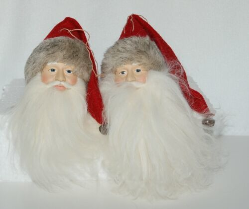 Traditional 6 Inch Santa Head H10674 Red Hat 2 Piece Set