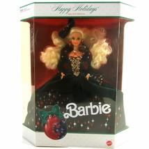 Happy Holidays Barbie NRFB Sealed Box Mattel Special Edition 1991 Velvet... - $64.99