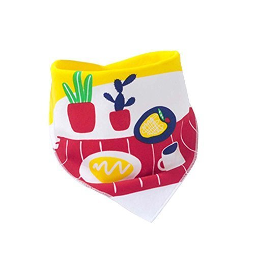 Baby's Gift,3Pcs Pure Cotton Adjustable Baby Neckerchief/Saliva Towel