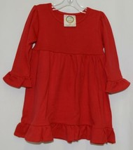 Blanks Boutique Red Long Sleeve Empire Waist Ruffle Dress Size 12M image 1