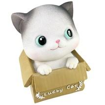 Lucky Cat Piggy Bank Still Bank Coin Bank Kitten Baby Story Good Fortune... - $29.95