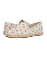 Coach Espadrilles Pink Floral COH Print Canvas Slip Ons Shoes Womens 9.5... - $63.69