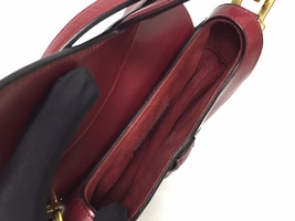 NEW AUTH Christian Dior RED Saddle Shoulder Bag WITH STRAPLESS  image 6