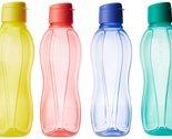 Tupperware Fliptop Plastic Bottle Set, 1 Litre, Set of 4, Multicolour Free Shipp - £15.01 GBP