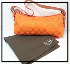 Coach Orange Jacquard Demi Shoulder Bag with Dust Bag - $92.57