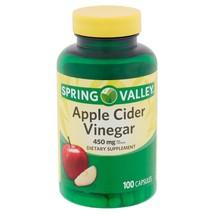 Spring Valley Apple Cider Vinegar, 450mg, 100 capsules - $14.99
