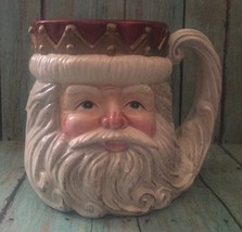 Vtg Fitz And Floyd Omnibus Santa Claus Mug Coffee Mug Father Christmas R... - $16.82