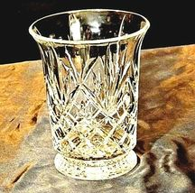 Cut Glass Vase with Detailed Design AA18-11801 Vintage Heavy image 3