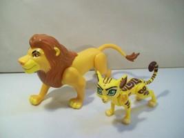 Lot Of 2 Disney Lion Guard Action Figures Simba & Fuli, Lion King Just Play - $14.65