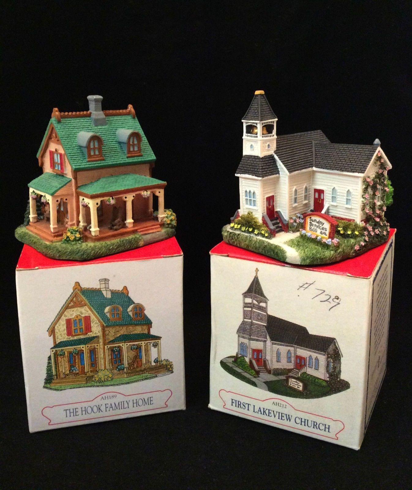 Liberty Falls Collection Miniatures Four Buildings AH189 AH212 AH211 AH207