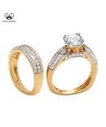 Western style wedding rings thumbtall