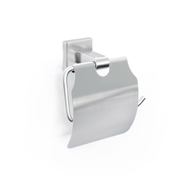 Toilettenrollenhalter mit Abdeckung Ständer Badezubehör wandmontage matt Bürste