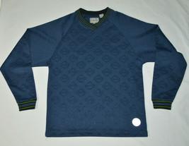 VTG Levis SilverTab Embossed Logo Sweater Navy Blue Long Sleeve Shirt M ... - $39.48