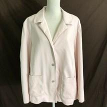 Eileen Fisher Pink Jacket Textured Blazer Cotton Spandex Size 2X Plus - $59.99