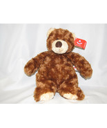 "Aurora Puddin Bear Bean Toy Fluffy 11"" Brown Teddy Bear Beige NWT - $23.26"