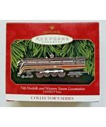 HALLMARK Keepsake Ornament, 746 Norfolk and Western Steam Locomotive, Li... - $19.99