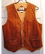 Vintage Bermans Leather Suede Sherpa Sheep Lined Men's Size 40 Vest - $42.99