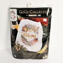 Dimension Welcome Xmas Quilt Cross Stich Sewing Kit 34 x 43 New Sealed - $69.95