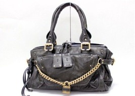 "AUTHENTIC CHLOE ""Chain Paddington"" Hand Bag Dar... - $545.00"