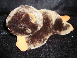 """Bearington Collection BEAVER 9"""" Brown Plush Quilted Tail Soft Toy Stuffe... - $11.92"""