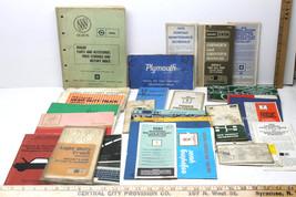 25 pc Assortment Lot 1970s Dealer Automotive Auto Parts Accessories Owner Manual - $36.45
