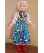"""11"""" Vintage Plastic Doll w Rooted white  Hair, pointy pointed up red Sho... - $21.04"""