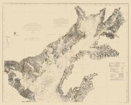 Chesapeake Bay Nautical Chart - 1861 - 23 x 28.67 - $36.95+