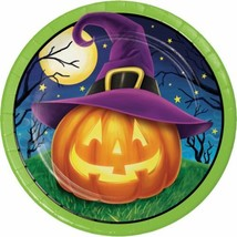 "October Eve 8 Ct 7"" Dessert Plates Halloween Cocktail JOL Witch Hat - $4.39"