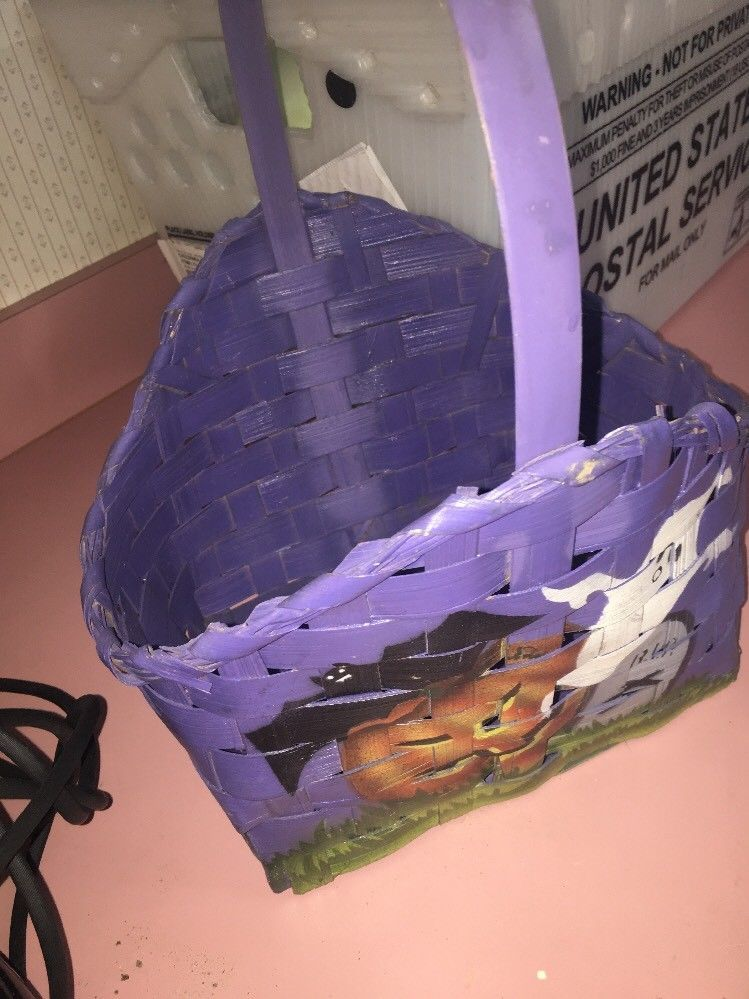 Purple Holloween Basket