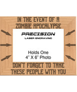 Zombie Apocalypse Engraved Picture Frame - 4x6 or 5x7 - Funny Zombies Mo... - $23.99+
