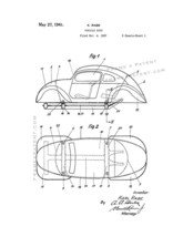 Vehicle Body Patent Print - White - $7.95+