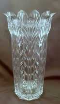 "Fifth Avenue Portico Crystal Vase 11"" Petal Flared Rim 24% Lead - $18.81"