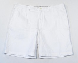 Izod Saltwater White Flat Front Chino Shorts Mens NWT - $41.24