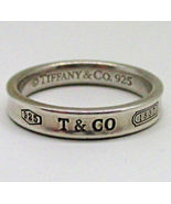 TIFFANY & CO. Vintage Narrow Concave 1837 RING in Sterling Silver - Size... - $2.754,44 MXN