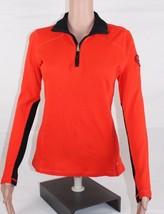 Ralph Lauren Lrl Active Damen Pullover Halb Reissverschluss Orange Baumwolle - $18.36