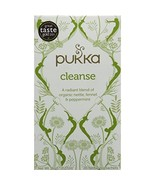 Pukka Organic Cleanse 20 Teabags (Pack of 4, Total 80 Teabags)  - $22.00