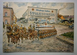 Vintage Advertising Postcard for Wurzburger Hofbrau Beer, artist signed - $20.00